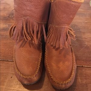 Shoes - OKOTOKS grain leather moccasins